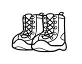 Mountain boots coloring page