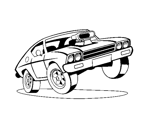 Muscle Car Coloring Page Coloringcrew Com