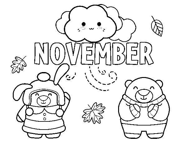 November coloring page - Coloringcrew.com