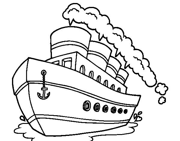 Ocean liner coloring page - Coloringcrew.com