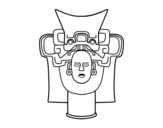 Old Mexican Mask coloring page