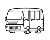 Old van coloring page