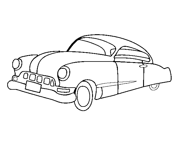 Oldster car coloring page