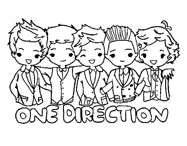 One direction coloring page