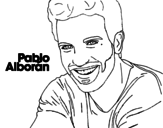 Pablo Alborán foreground coloring page