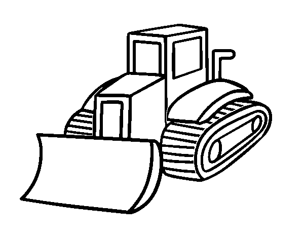Pallet truck coloring page