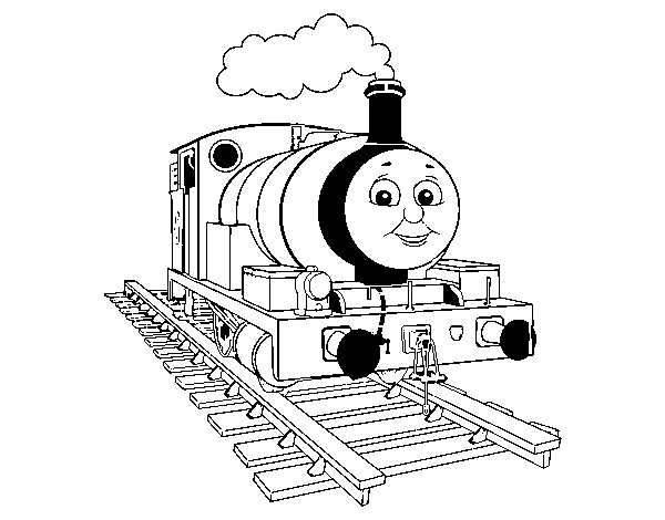 Percy the green engine coloring page