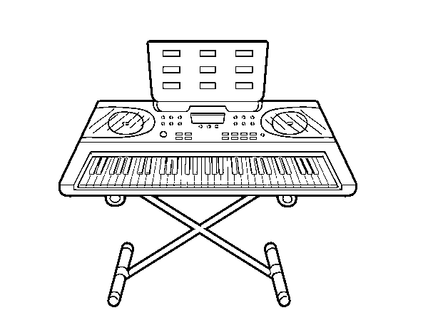Piano Synthesizer coloring page