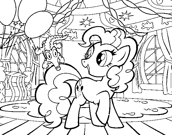 Pinkie Pie 's birthday coloring page