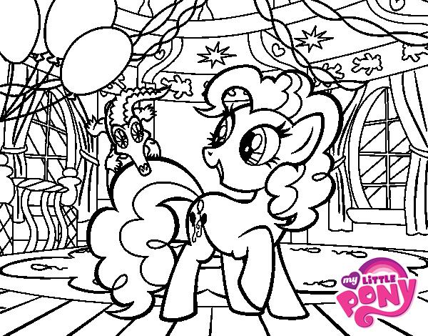 Pinkie Pie \'s birthday coloring page - Coloringcrew.com