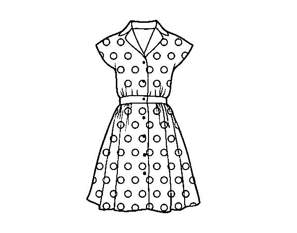 Pinup dress coloring page - Coloringcrew.com
