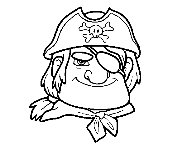 Pirate chief coloring page