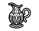 Pitcher of water coloring page