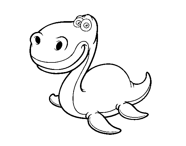 Plesiosauria coloring page