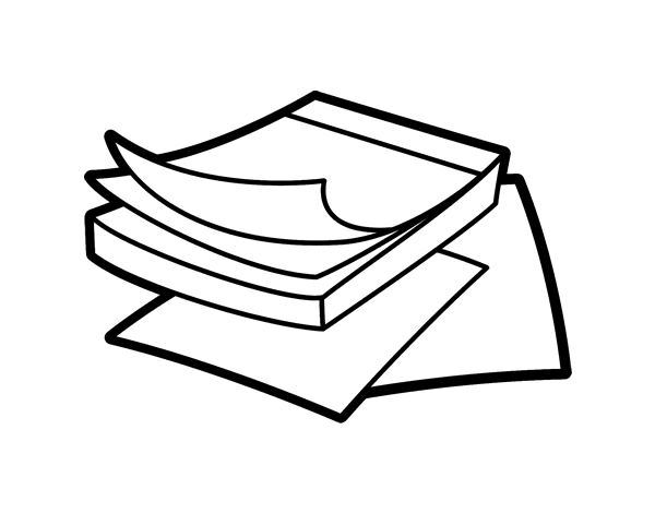 Post It Notes Coloring Page Coloringcrew Com