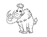 Prehistoric Mammoth coloring page
