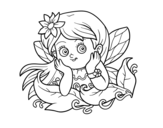 Pretty fairy coloring page