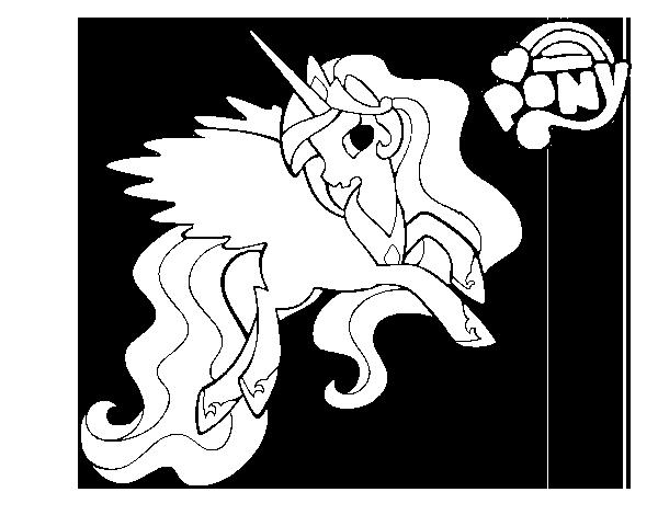 Princess Celestia Coloring Page Coloringcrew Com
