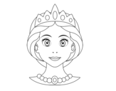Princess face coloring page
