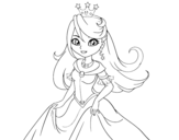 Princess Queen coloring page