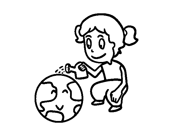 Protect the planet earth coloring page