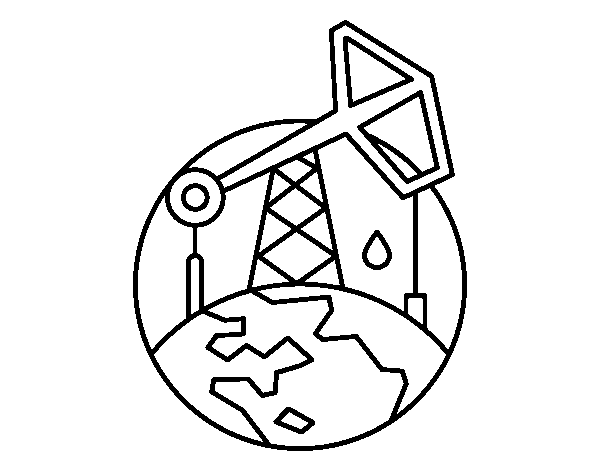 Pumpjack coloring page