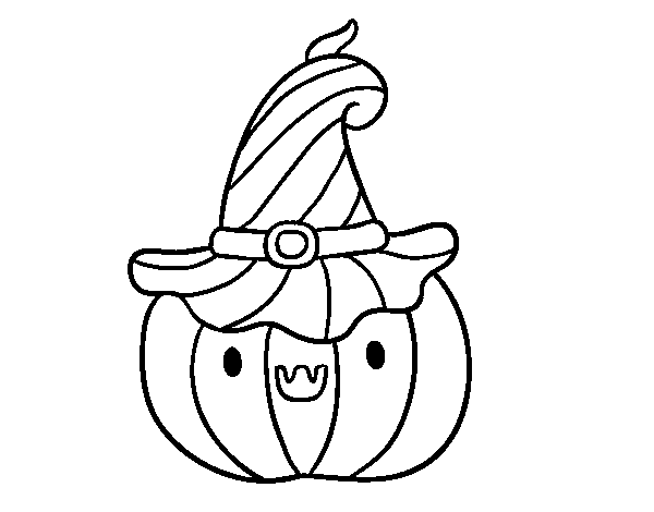 Pumpkin for Halloween coloring page