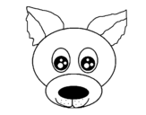 Puppy face coloring page