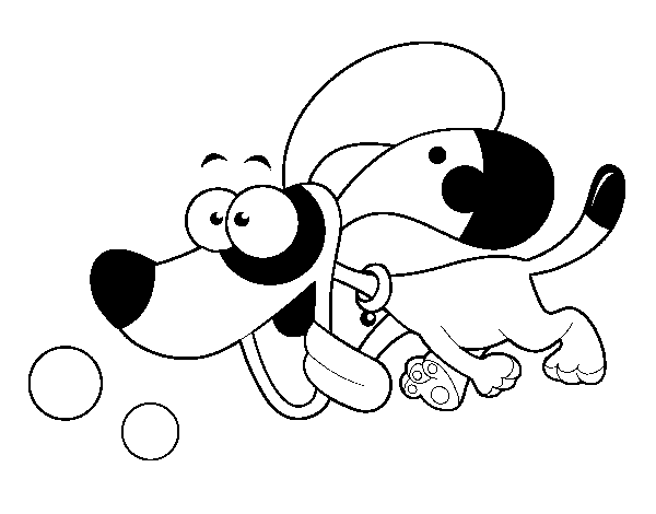 Puppy Running Coloring Page