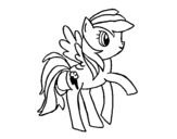 Rainbowdash coloring page