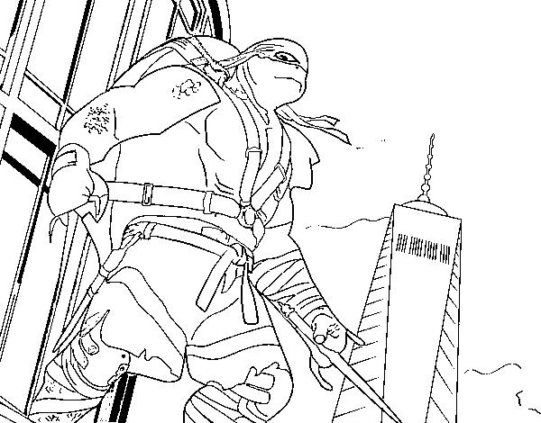 Raphael Ninja Turtles coloring page - Coloringcrew.com