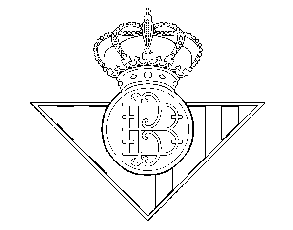 Real Betis crest coloring page - Coloringcrew.com