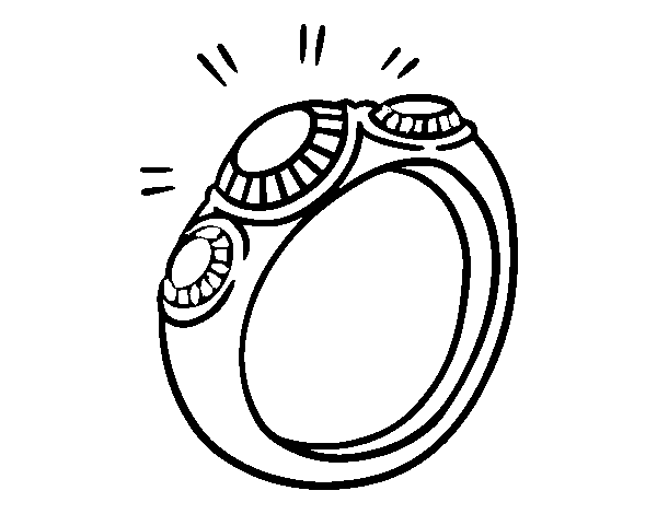ring with diamonds coloring page coloringcrew