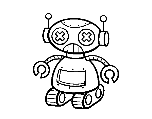 Robot doll coloring page