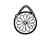 Round pouch coloring page