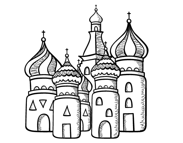 Saint Basil S Cathedral From Moscu Coloring Page Coloringcrew Com