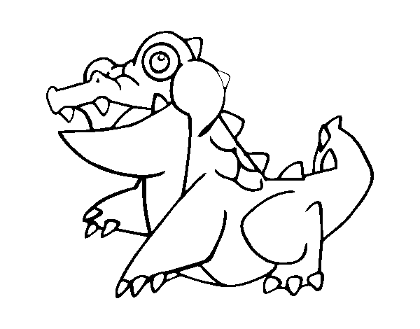 Saltwater crocodile coloring page