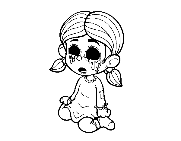 Scary Girl coloring page - Coloringcrew.com