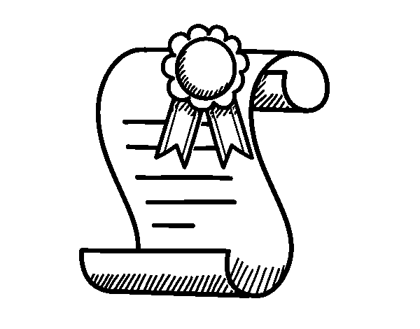 School diploma coloring page