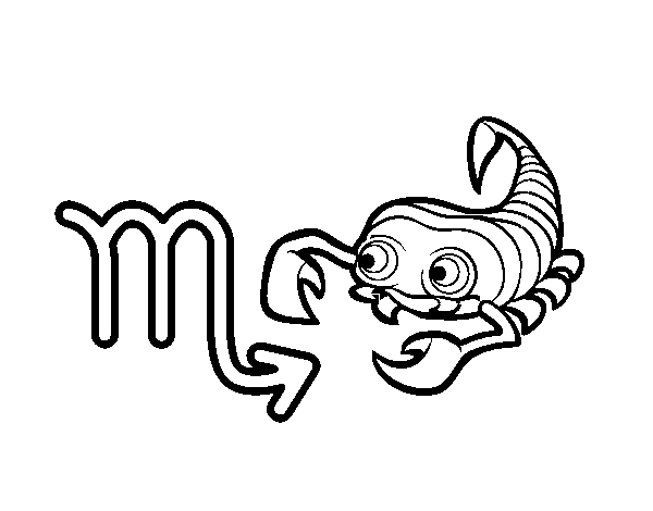 Scorpio horoscope coloring page