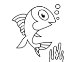 Sea fish coloring page