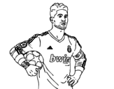Sergio Ramos of Real Madrid coloring page