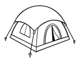 Shelter tent coloring page