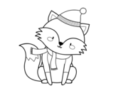 Sheltered fox coloring page
