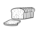 Sliced bread coloring page