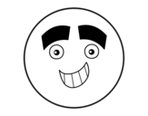 Smiley with big eyebrows coloring page