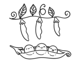 Some peas coloring page