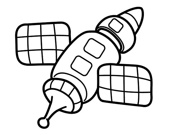space station coloring page coloringcrewcom