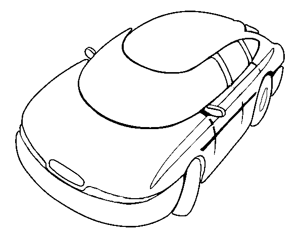 Speedy car coloring page