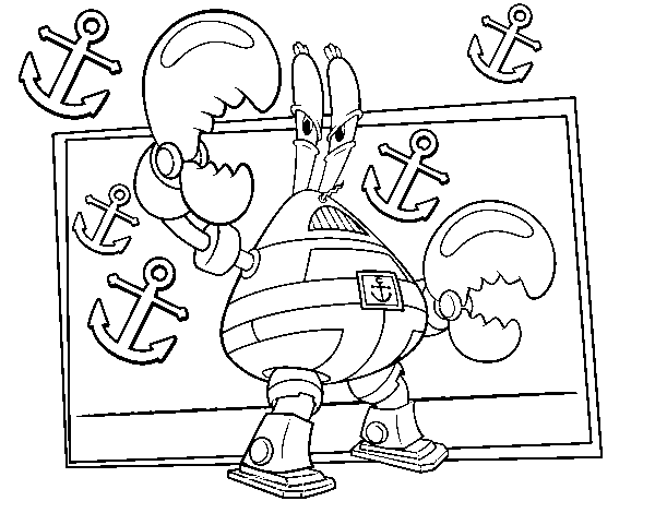 Sponge Bob - Sir pinch-a-lot coloring page